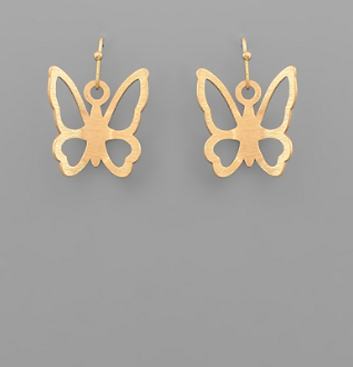 In The Clouds Gold Earrings