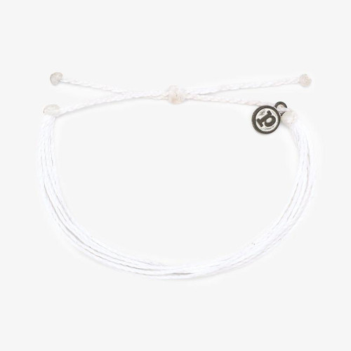 Bright Solid White Bracelet
