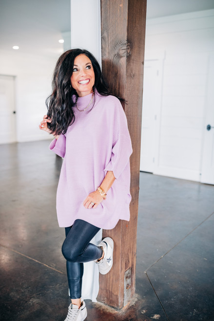 Boho Orchid Tunic Top
