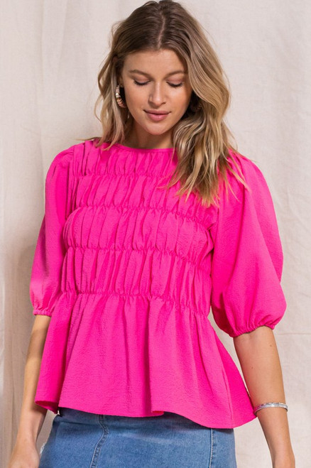 Sophisticated Hot Pink Style Top