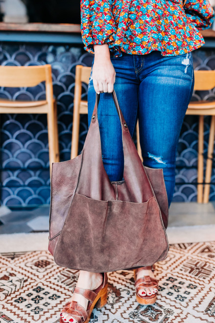 Tuscan Leather Chocolate Tote