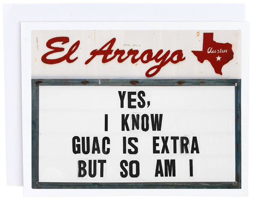 Guac Is Extra Card