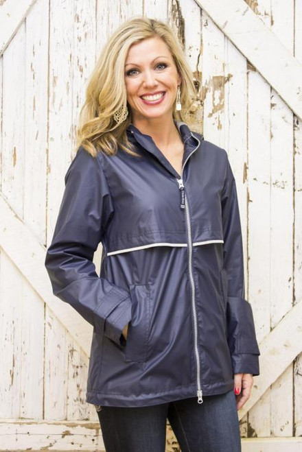 Monogram Rain Jacket in Navy