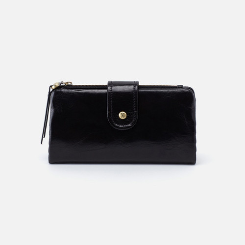 Charge Black Continental Wallet