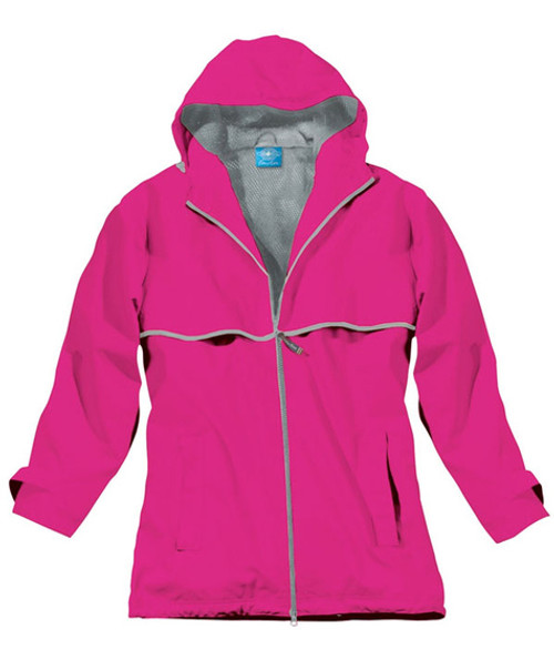 Monogram Rain Jacket in Hot Pink