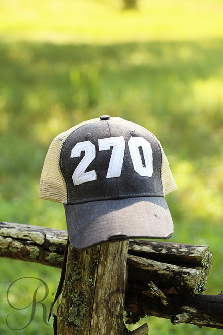Area Code Charcoal/White Trucker Cap