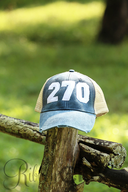 Area Code Washed Navy/White Trucker Cap