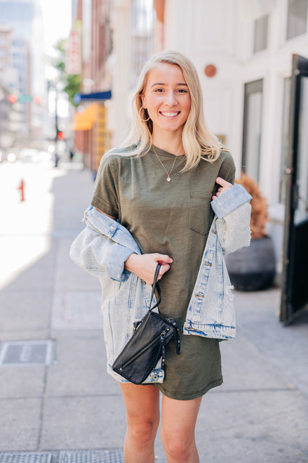This Is Your Moment Olive Dress