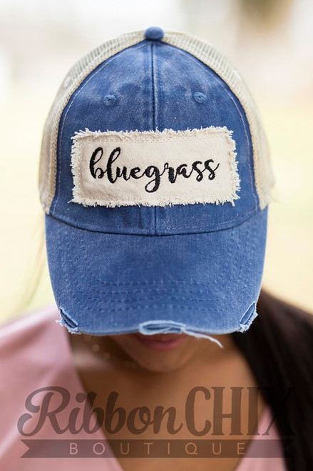 Bluegrass Patch Blue Trucker Cap