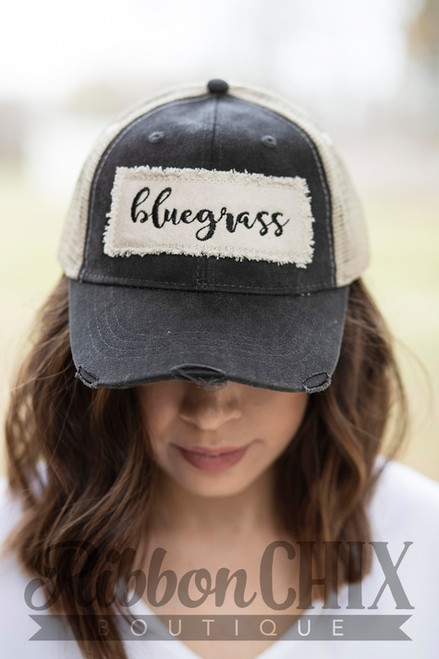 Bluegrass Patch Charcoal Trucker Cap