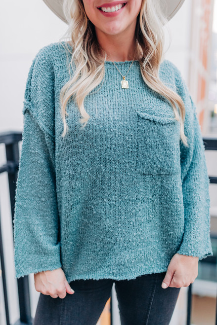 My Best Guess Sage Sweater