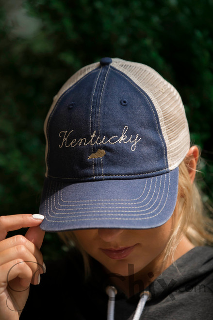 Letters from Home Denim Trucker Cap