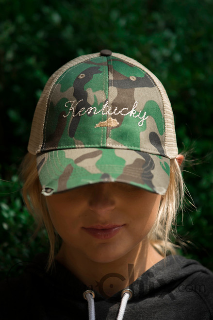 Letters from Home Camo Trucker Cap