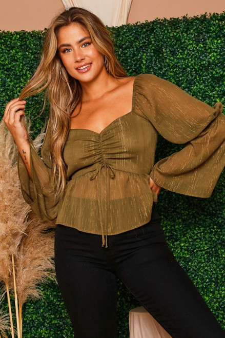 Pursue Perfection Olive Top