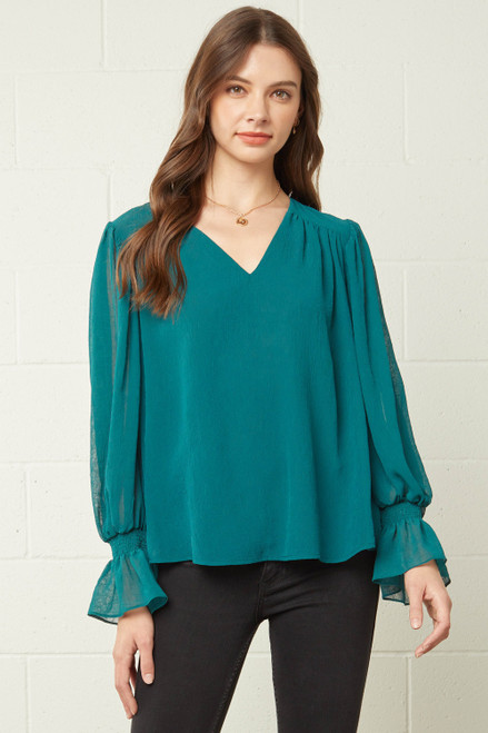 Smart and Polished Teal Top