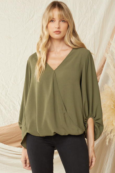 Live To Love Olive Top