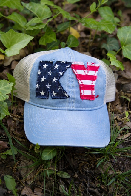 State Pride USA/Light Blue Trucker Cap