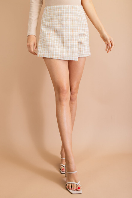 Calling To Me Taupe Skort