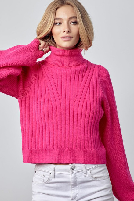 Only Prettier Hot Pink Sweater