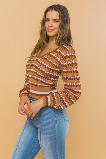 Promise One Thing Cropped Sweater