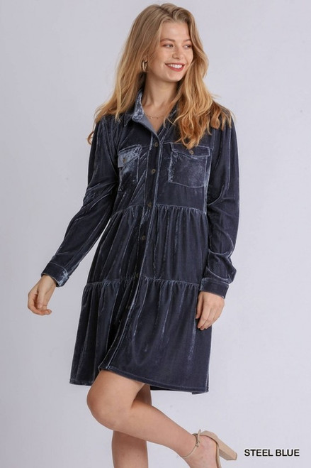 Close To Your Heart Steel Blue Dress