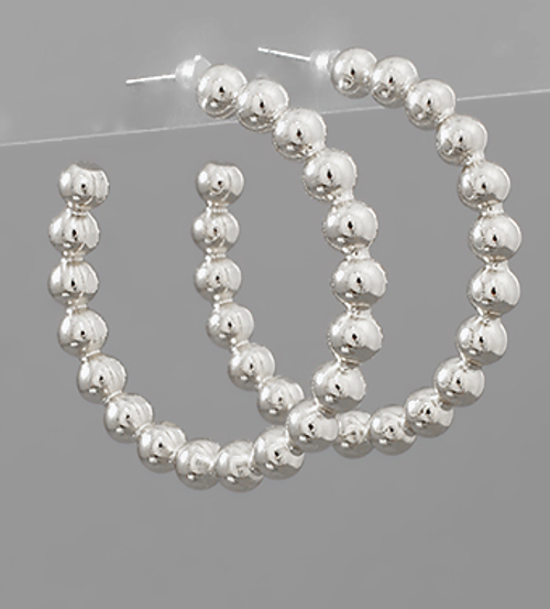Dots For Days Silver Hoops
