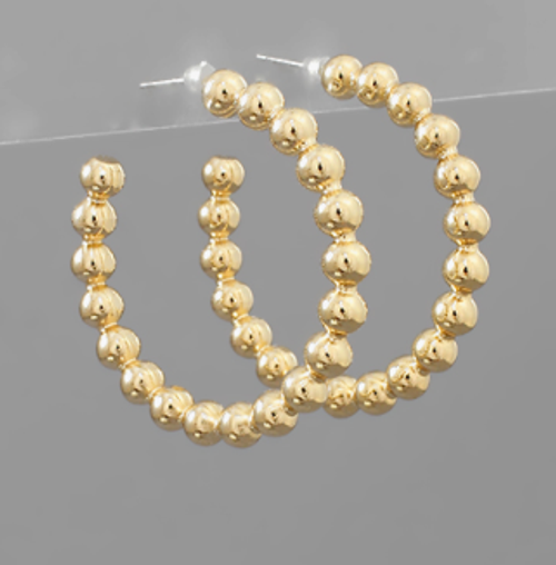 Dots For Days Golden Hoops