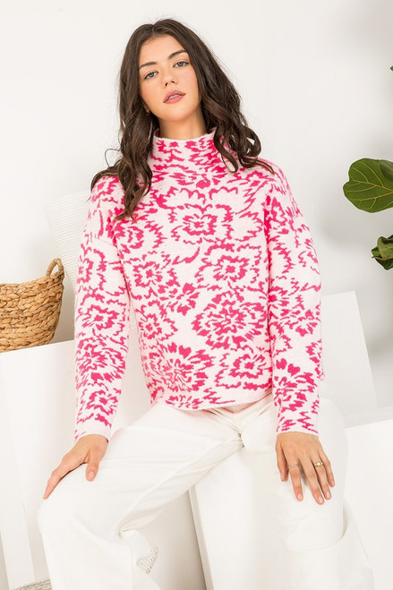 Lost In My Memories Pink Sweater