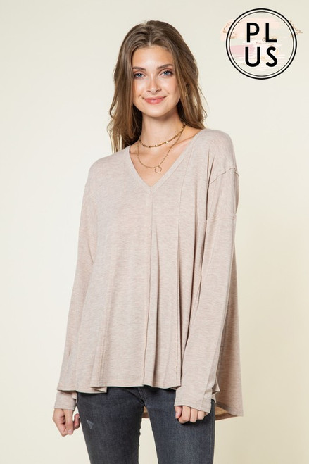 Something On Your Mind Taupe Top