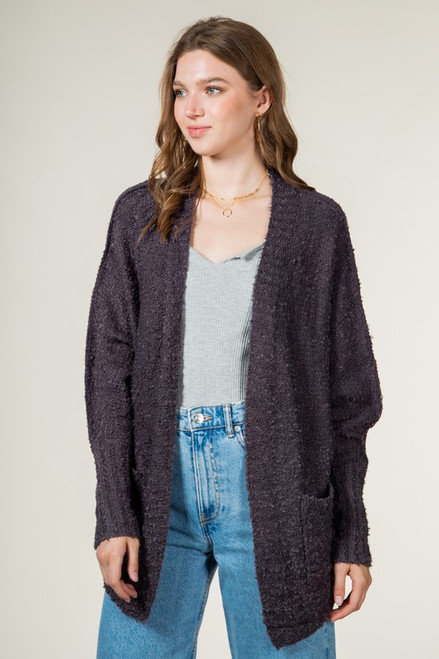 Finally Together Charcoal Cardigan