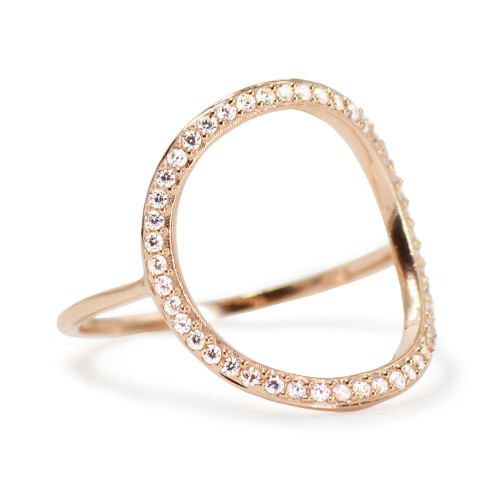 Pave Open Circle Ring
