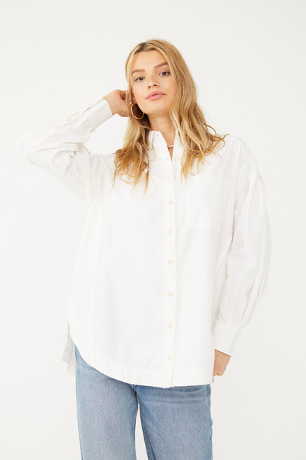 Cool & Clean B/D Solid Blouse