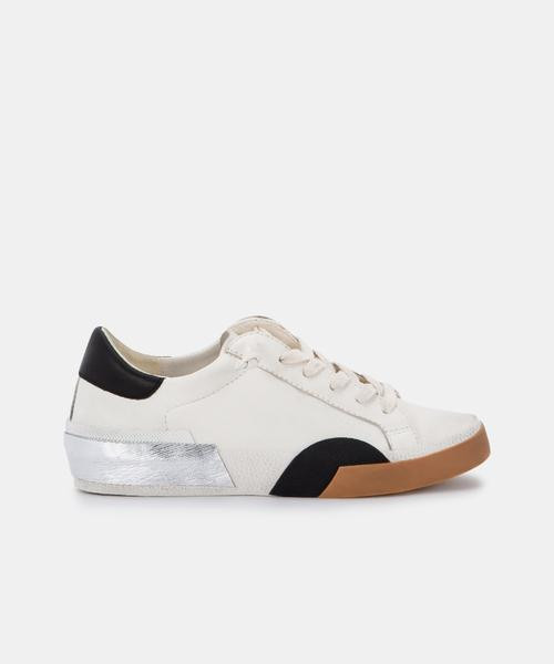 Zina White And Black  Sneakers