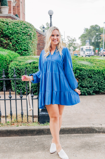 Just Getting By Sapphire Dress