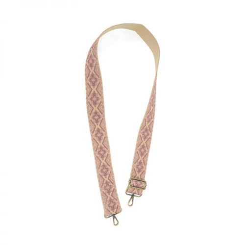 Rose And Pink Embroidered Guitar Strap