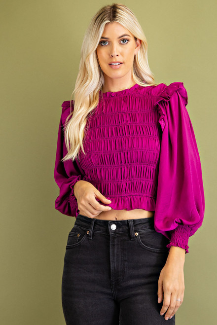 Just A Theory Plum Top