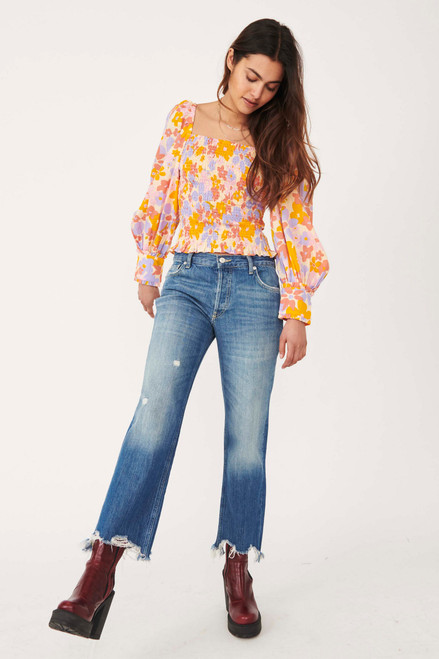 Maggie Clean Mid-Rise Jeans