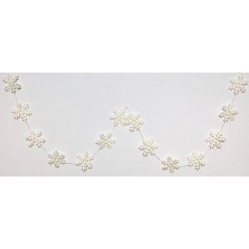 Felt Snowflakes Garland