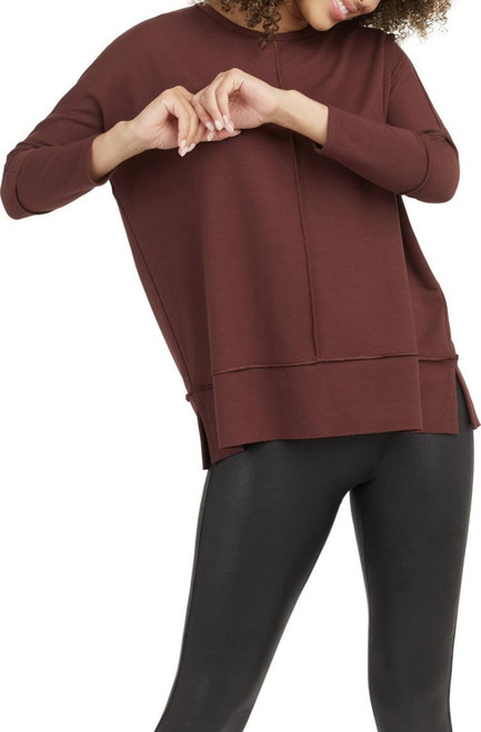 Spanx Perfect Length Hickory Rouge Top