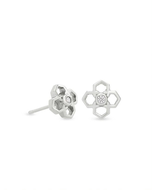 Rue Stud Earring in Silver