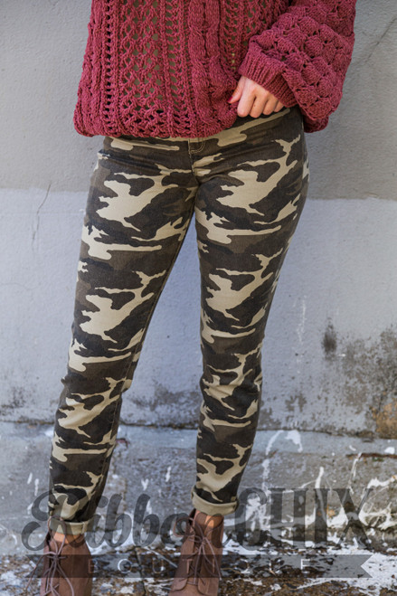 Julia High Rise Camo Skinny Jeans
