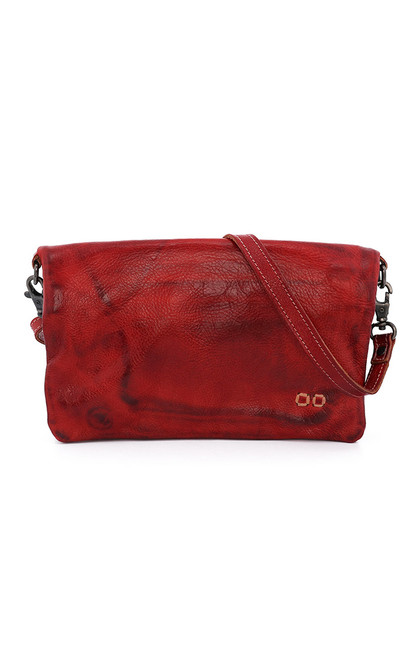 Cadence Red Rustic Convertible Clutch