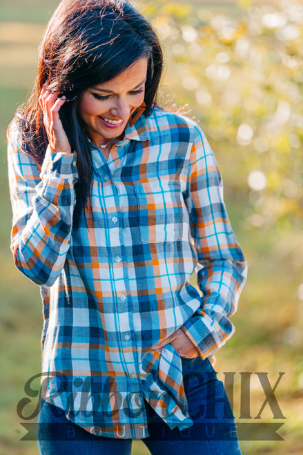 Present in Plaid Top