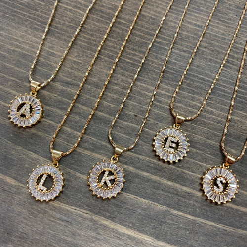 Round Initial Necklace