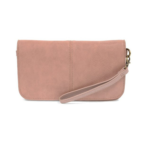 Mia Multi Pocket Crossbody Blush Clutch