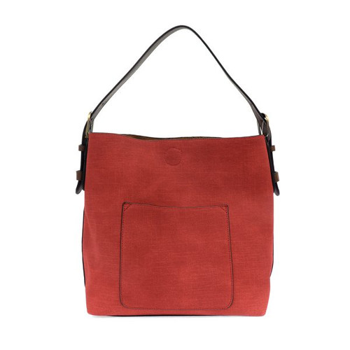 Finley Faux Linen Red Handbag
