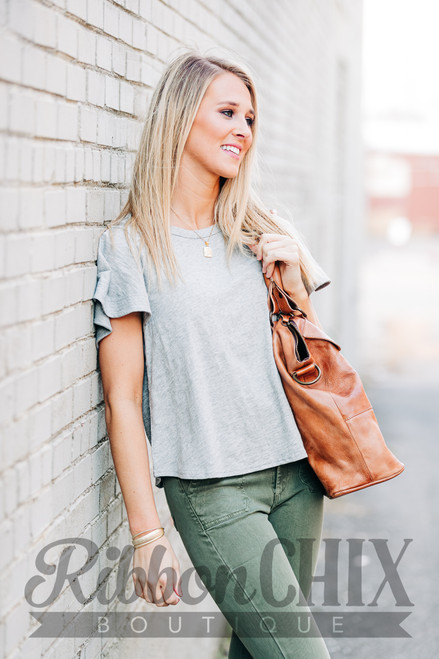 Second Nature Heather Grey Top