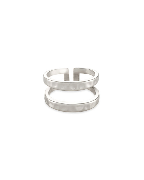 Zorte Silver Double Band Ring