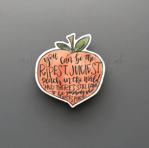 Juicy Peach Joy Sticker
