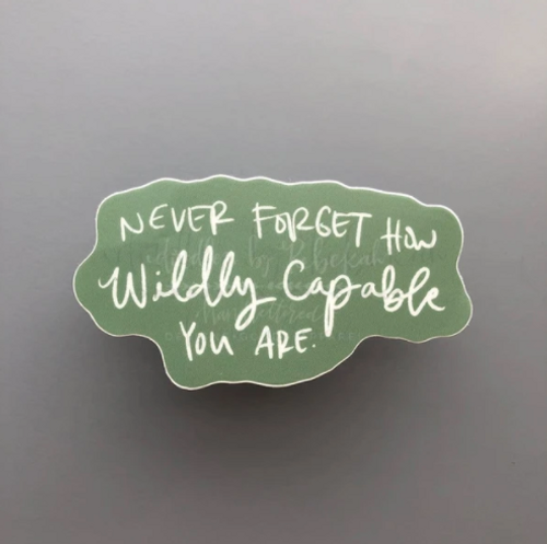 Wildly Capable Sticker